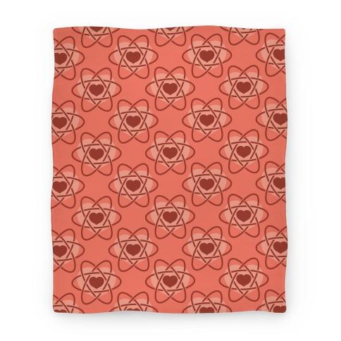 Heart Atom Blanket (Pink) Blanket
