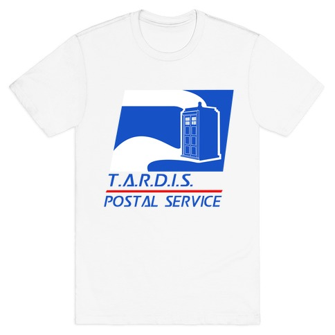 TARDIS Postal Service Mens T-Shirt