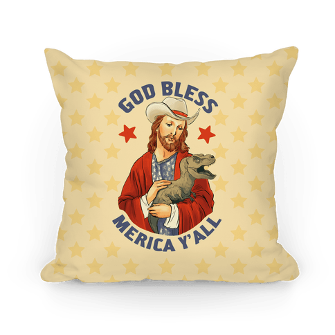 God Bless Merica Y'all Pillow