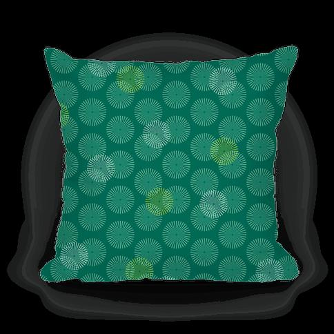 Teal Green Radial Mandalas Pattern