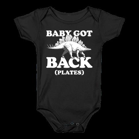 Baby Got Back Plates Baby Onesy