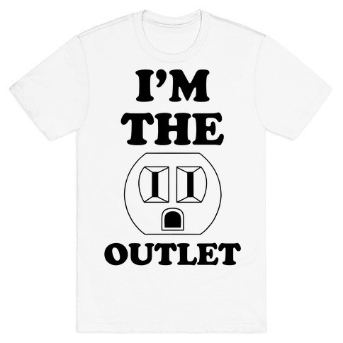 Iu0027m The Outlet (Outlet and Plug Costume) Mens T-Shirt  sc 1 st  LookHUMAN & Plug And Outlet Costume Funny Halloween Costumes T-Shirts Baseball ...