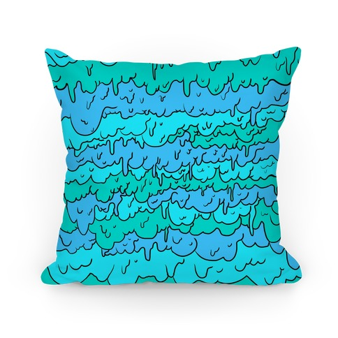 Slimy Blue Pillow Pillow