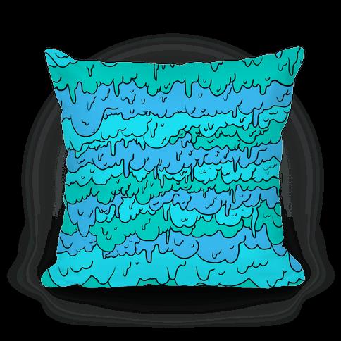 Slimy Blue Pillow