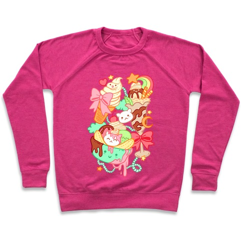 Cute Cat Sundae & Kawaii Ice Cream Pullover