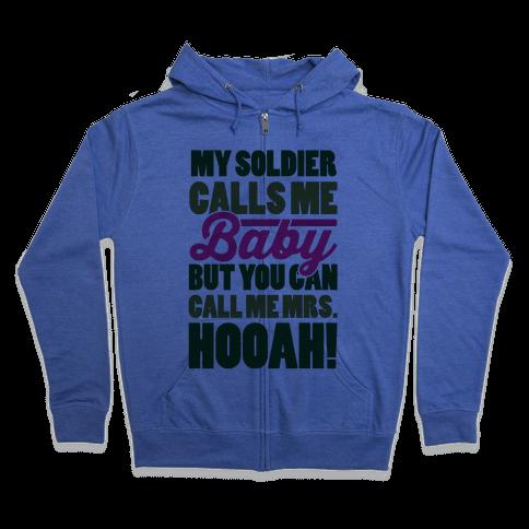 You Can Call Me Mrs. Hooah Zip Hoodie