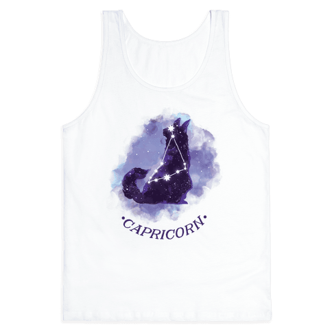 Cat Zodiac: Capricorn Tank Top