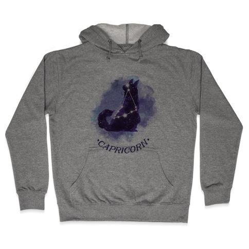 Cat Zodiac: Capricorn Hooded Sweatshirt