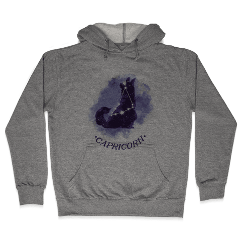 Cat Zodiac: Capricorn Hooded Sweatshirt