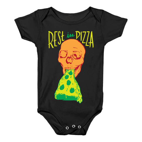 R.I.P. Rest In Pizza Baby Onesy