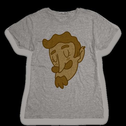 Cute Scruffy Dude (Yellow) Womens T-Shirt