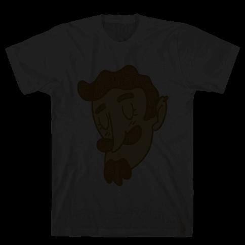Cute Scruffy Dude (Yellow) Mens T-Shirt