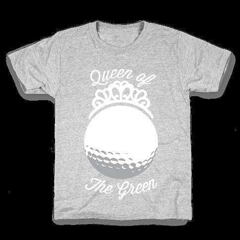Queen Of The Green (Golf) Kids T-Shirt