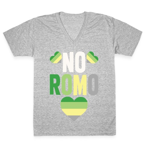No Romo V-Neck Tee Shirt