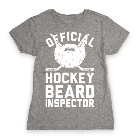 Official Hockey Beard Inspector Womens T-Shirt