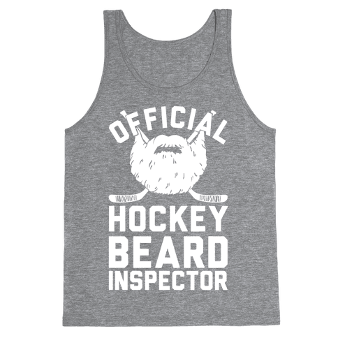 Official Hockey Beard Inspector Tank Top