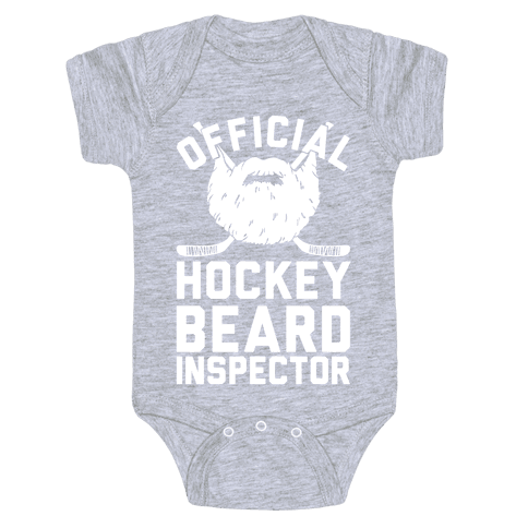 Official Hockey Beard Inspector Baby Onesy