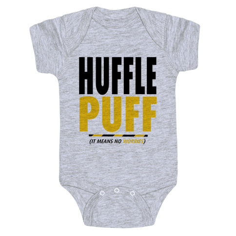 Hufflepuff (It Means No Worries) Baby Onesy