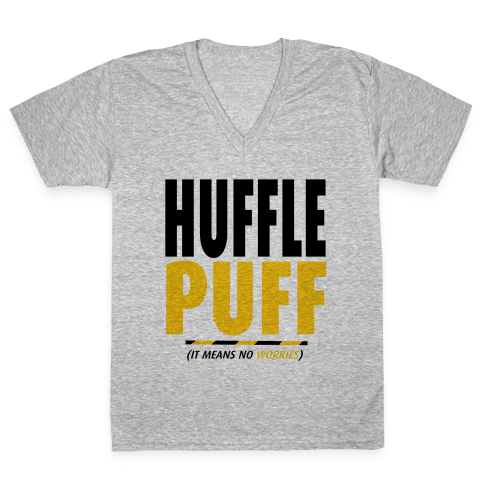 Hufflepuff (It Means No Worries) V-Neck Tee Shirt