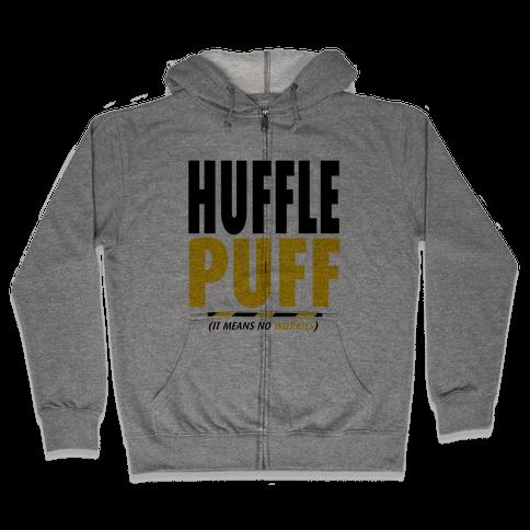 Hufflepuff (It Means No Worries) Zip Hoodie