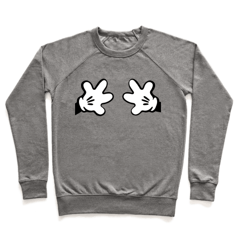 Cartoon Mouse Hands Joke Pullover