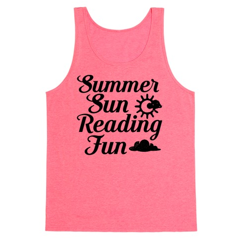 Summer Sun Reading Fun Tank Top