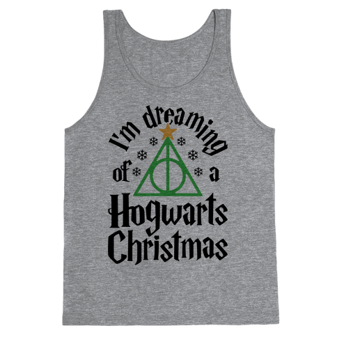 I'm Dreaming Of A Hogwarts Christmas Tank Top