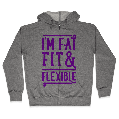 Fat Fit and Flexible Zip Hoodie