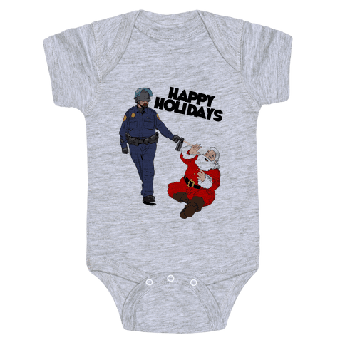 Officer Pike & Santa1 Baby Onesy
