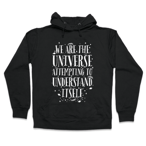 We Are The Universe Attempting to Understand Itself Hooded Sweatshirt