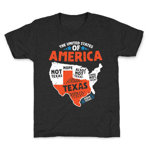 United States of Texas Kids T-Shirt