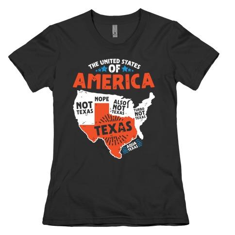 United States of Texas Womens T-Shirt
