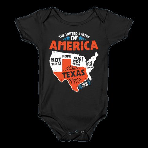 United States of Texas Baby Onesy