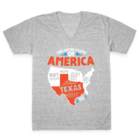 United States of Texas V-Neck Tee Shirt