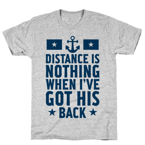 I've Got His Back (Navy) Mens T-Shirt