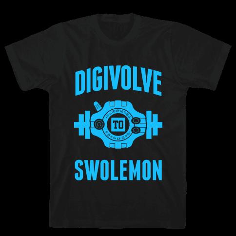Digivolve to Swolemon! (Light Print) Mens T-Shirt