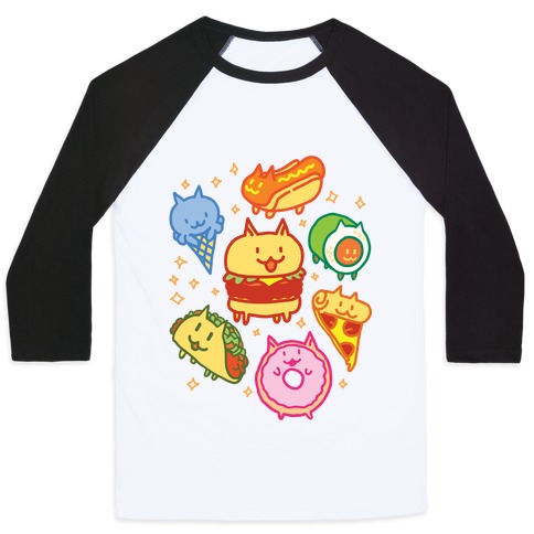 Cat Food Baseball Tee
