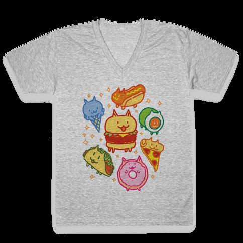 Cat Food V-Neck Tee Shirt