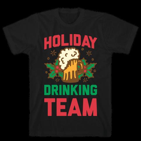 Holiday Drinking Team Mens T-Shirt