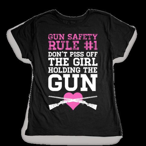 Gun Safety Rule #1 Womens T-Shirt