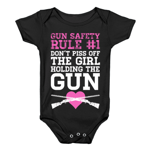 Gun Safety Rule #1 Baby Onesy