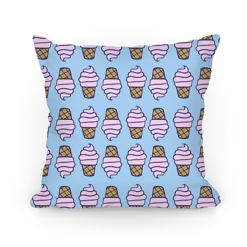 Ice Cream Pattern Pillow
