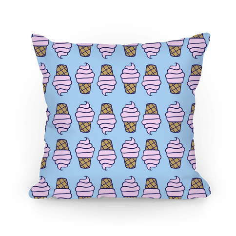 Ice Cream Pattern Pillow