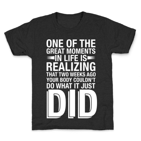 Realizing Great Moments Kids T-Shirt