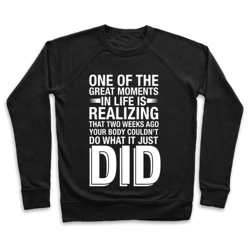 Realizing Great Moments Pullover