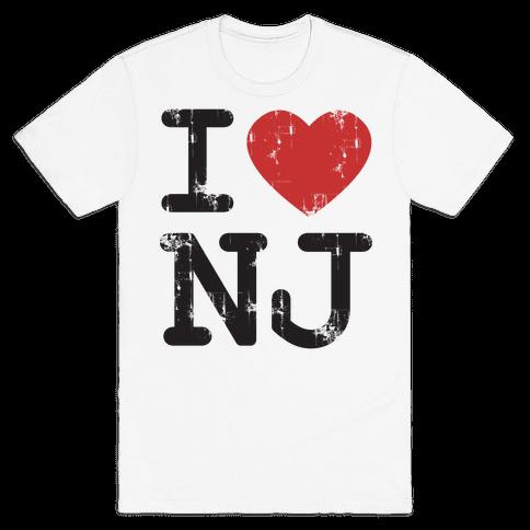 I Love New Jersey Mens T-Shirt