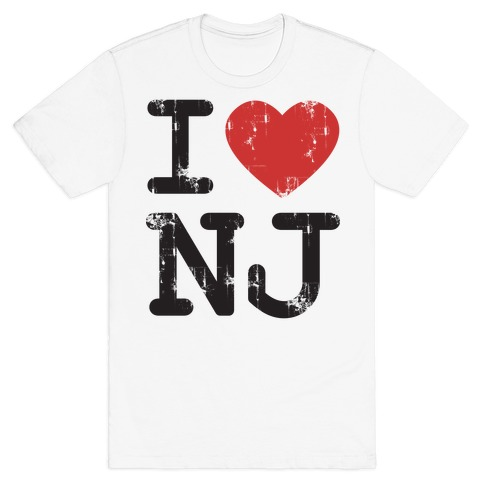 I Love New Jersey Mens T-Shirt