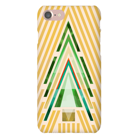 Geometric Summer Tree Phone Case