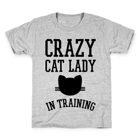 Crazy Cat Lady In Training Kids T-Shirt
