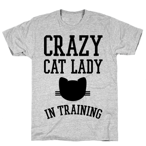 Crazy Cat Lady In Training Mens T-Shirt